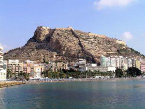 Château Santa Barbara à Alicante avec vue sur la ville