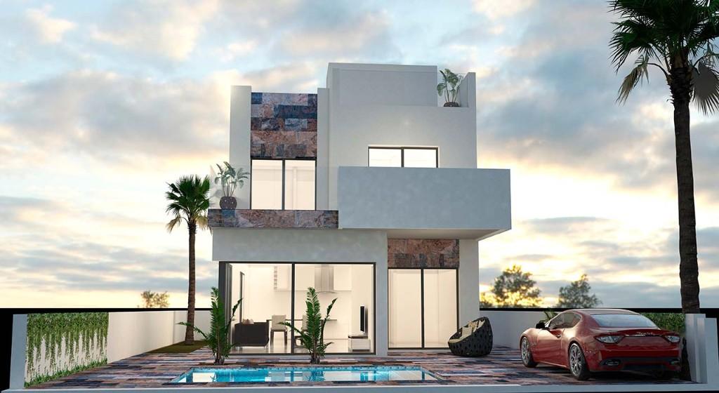 Villa avec piscine en Espagne à la Zenia