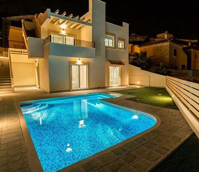 Maisons à Cuidad Quesada, avec 2, 3 et 4 chambres, dans un style moderne qui est mélangé avec le style méditerranéen.