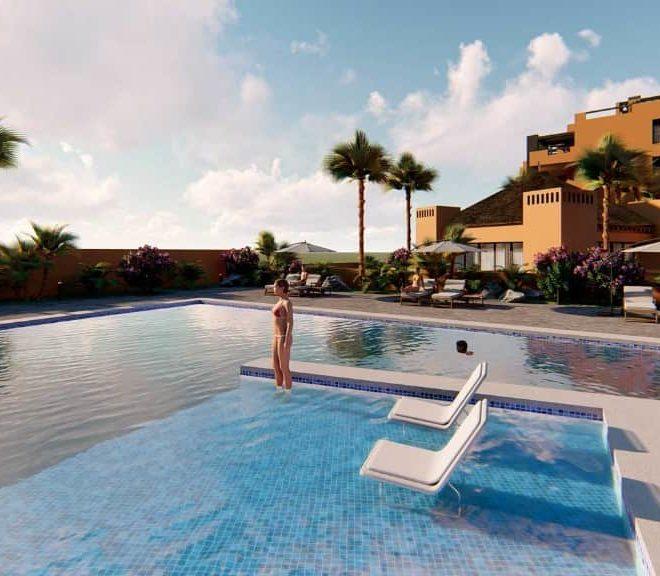 Appartement en vente à Villamartin, femme dans la piscine debout