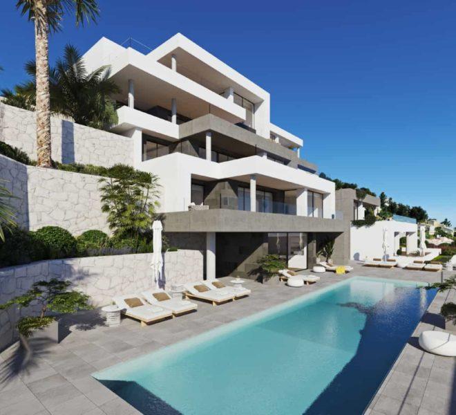 Appartement vue mer au golf à vendre sur la Costa Blanca à Denia