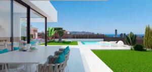 Maison en Espagne avec piscine et vue sur la mer