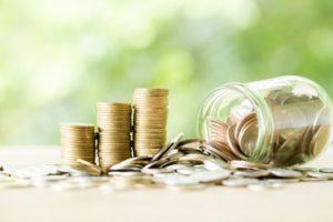 Piles de pièces de monnaie