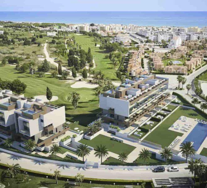 Appartements à vendre face au parcours de golf Oliva Nova Resort