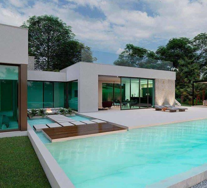 Villa à 100 mètres du départ du parcours de golf de Las Colinas en Espagne