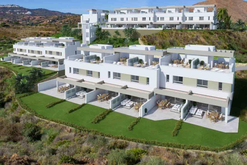 Complexe de maisons mitoyennes à La Cala Golf Resort à Mijas, commune de Malaga.
