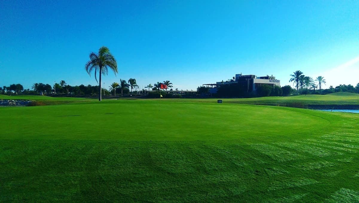 Roda Golf, 7ème green, trou en « île »